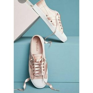 Anthropologie Gola Satin Coaster sneakers